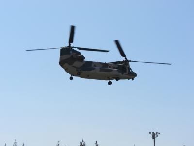 soku_14012.jpg :: PowerShotS95 熊谷基地さくら祭 輸送ヘリコプター CH-47J