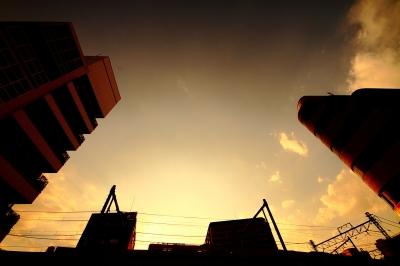 soku_14122.jpg :: 風景 自然 空 夕日 夕焼け 日没