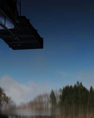 soku_14650.jpg :: PowerShotS95 風景 自然 水分 湖 大桁湖 逆さ吊り 馬鹿