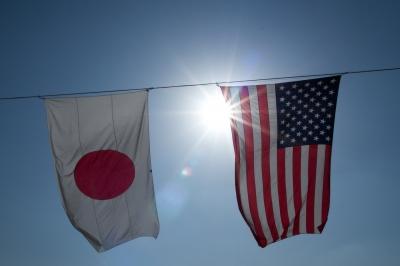 soku_15213.jpg :: 厚木航空基地 日米 国旗