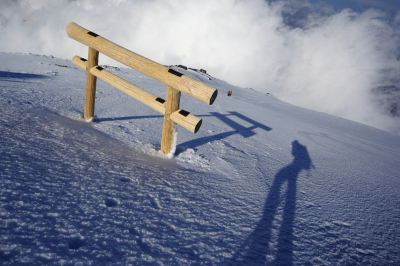 soku_15345.jpg :: 富士山 冬 雪 通行が困難な鳥居
