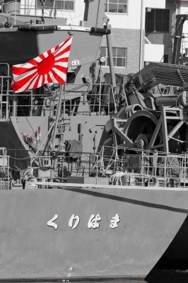 soku_15505.jpg :: 海上自衛隊 十六条旭日旗 軍艦旗 自衛艦旗 ワンポイントカラー