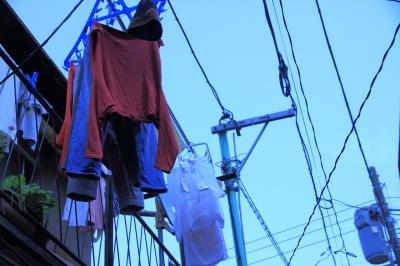 soku_15820.jpg :: 風景 街並み 都市の風景 下町 洗濯物