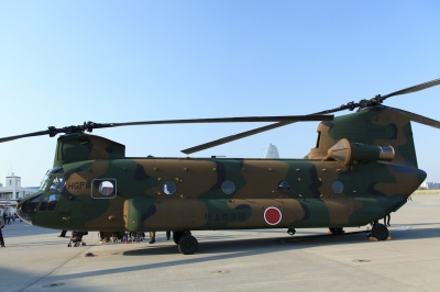 soku_16083.jpg :: 陸上自衛隊 ヘリ 輸送ヘリコプター CH-47J