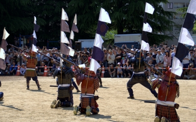 soku_16516.jpg :: 祭り 仙台 青葉まつり 武士 鎧兜 火器 銃 火縄銃