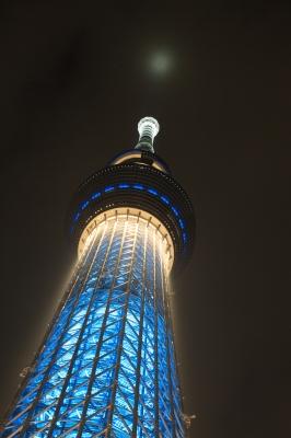 soku_16737.jpg :: 建築 建造物 塔 タワー 東京スカイツリー ライトアップ 夜景