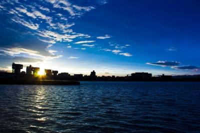 soku_17190.jpg :: 風景 自然 空 夕日 夕焼け 日没
