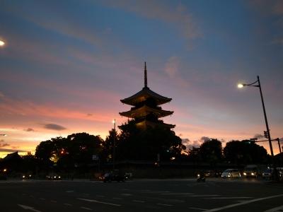 soku_17209.jpg :: 建築 建造物 塔 五重塔 夜景