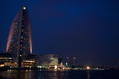 soku_17270.jpg :: みなとみらい 夜景 船 風景 街並み ビル