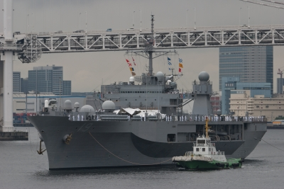 soku_17709.jpg :: 日米合同親善寄港 東京港晴海埠頭 艦艇入港 米海軍 LCC.19 Blue Ridge ブルーリッジ