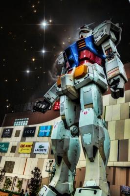 soku_17902.jpg :: オブジェ フィギュア ガンダム 巨大ガンダム お台場 ダイバシティ HDR