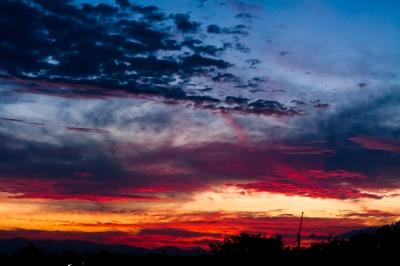 soku_17989.jpg :: 空 雲 夕焼 クレーン マジックアワー