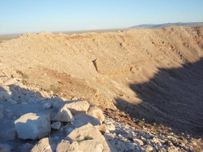 soku_18101.jpg :: バリンジャー・クレーター アメリカ アリゾナ州 風景 自然 山 岩場 外国