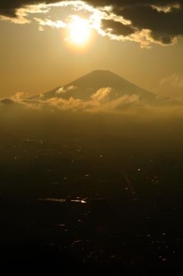 soku_18164.jpg :: 風景 自然 山 富士山 夕日