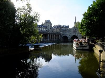 soku_18380.jpg :: イギリス バース 風景 街並み 郊外の風景 水路 外国