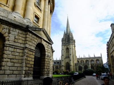 soku_18393.jpg :: イギリス オックスフォード 風景 街並み 学校 外国