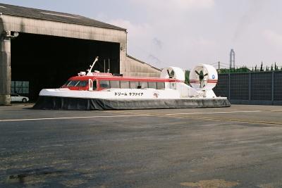 soku_18568.jpg :: 乗り物 交通 船 エアクッション艇 ホーバークラフト ドリームサファイア