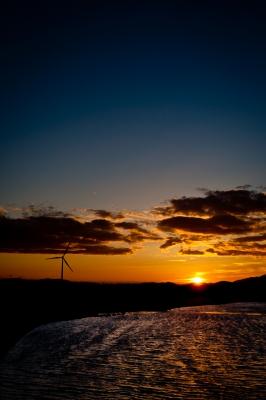 soku_18637.jpg :: 風景 自然 空 夕日 夕焼け 日没