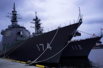 soku_19139.jpg :: 乗り物 交通 船 護衛艦 DDG.174 きりしま Kirishima DD.113 さざなみ Sazanami