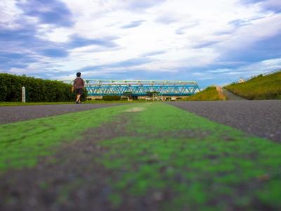 soku_19266.jpg :: 荒川河川敷 風景 自然 空 雲