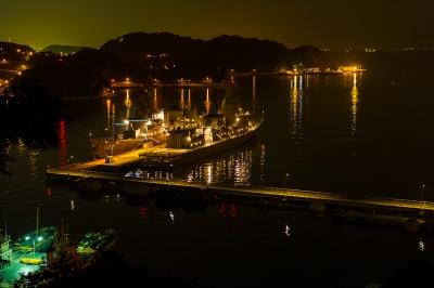 soku_19269.jpg :: 夜景 港 護衛艦 船 DD.102 はるさめ Harusame ASE.6102 あすか Asuka