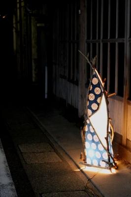 soku_19310.jpg :: 風景 街並み 郊外の風景 夜景 行灯