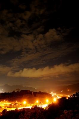soku_19523.jpg :: 風景 街並み 郊外の風景 夜景 富士山