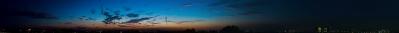 soku_19894.jpg :: 夕暮れ 夕焼け 空 雲 三日月 夜景 風景 富士山 パノラマ (^.^)