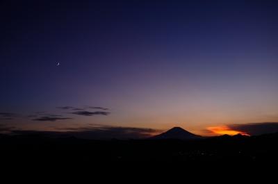 soku_19956.jpg :: 風景 自然 山 富士山 夕焼け