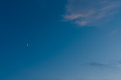 soku_20140.jpg :: 空 雲 飛行機 月 夕暮れ