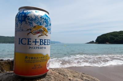 soku_20378.jpg :: 飲み物 ドリンク 酒 ビール 風景 自然 海 砂浜