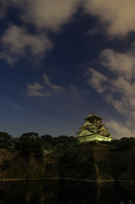 soku_20518.jpg :: 夜景 建築 建造物 城 風景 自然 空 雲