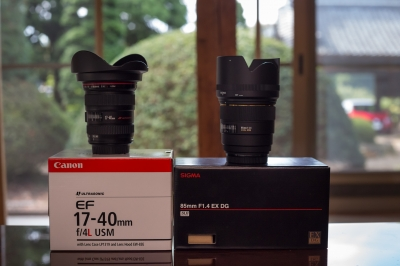 soku_20595.jpg :: 家族 カメラ機材 レンズ EF17-40mm F4L USM 85mm F1.4 EX DG HSM