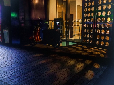 soku_20874.jpg :: 夜景 丸型反射 昔のフィルム風