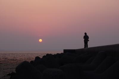soku_20883.jpg :: 夕景 海 風景 自然 空 夕焼け