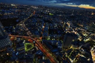 soku_20900.jpg :: サンシャイン60 富士山 夕焼け 夜景 マジックアワー