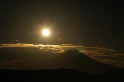 soku_21132.jpg :: 風景 自然 天体 月 山 富士山