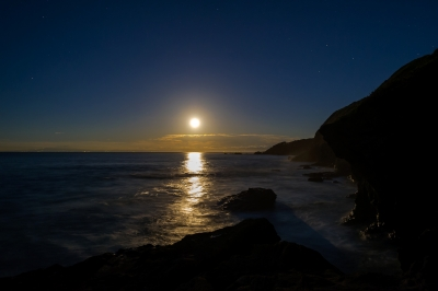 soku_21159.jpg :: 夜景 風景 自然 海 月