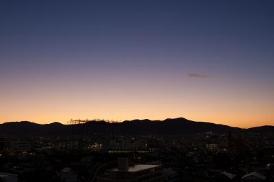 soku_21802.jpg :: KissX3 朝焼け 朝日 山 風景