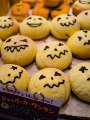 soku_21804.jpg :: 食べ物 パン 菓子パン メロンパン ハロウィン