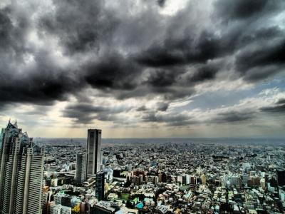 soku_21842.jpg :: 風景 街並み 都市の風景 ビル 都庁 HDR