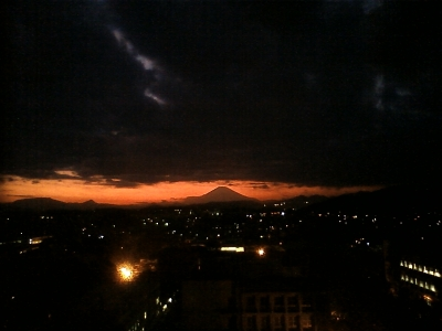 soku_22131.jpg :: 風景 自然 山 富士山 残照