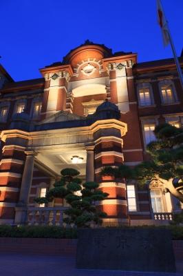 soku_22133.jpg :: 東京駅 風景 街並み 駅 夜景