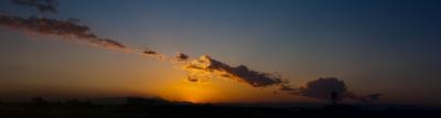 soku_22224.jpg :: 夕焼け 空 雲 鳥 風景 パノラマ (^.^)