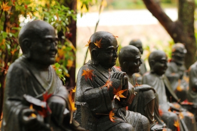 soku_22570.jpg :: 建築 建造物 仏像 お地蔵様 風景 自然 紅葉