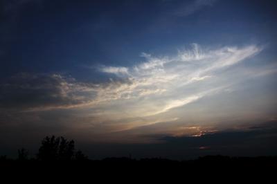 soku_22861.jpg :: PowerShotS95 風景 自然 コンデジ埼玉 lock 空 雲 夕日 夕焼け 日没
