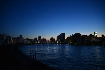 soku_22921.jpg :: 風景 自然 空 夕日 夕焼け 日没 街並み 都市の風景 ビル