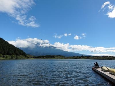 soku_22931.jpg :: PowerShotS95 風景 自然 水分 コンデジ埼玉 lock 湖 田貫湖 釣り 富士山 雲待ち(笑)