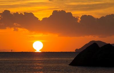 soku_22941.jpg :: 朝日 だるま朝日 朝焼け 自然 風景