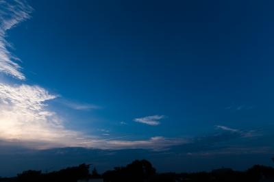 soku_22992.jpg :: 飛行機雲 空 雲
